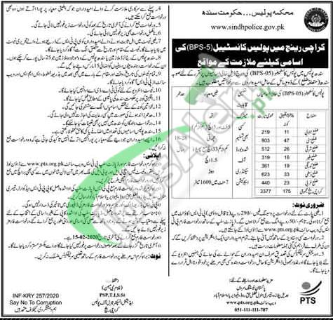Sindh Police Job Opportunities