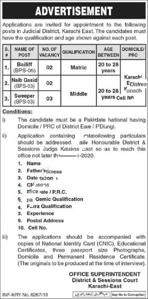 District & Session Court Karachi