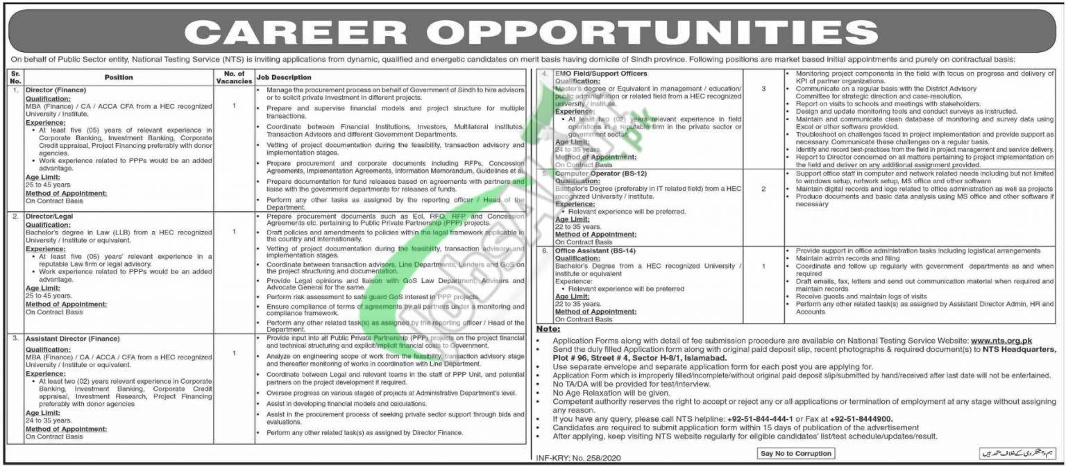 Public Sector Organization Sindh Job Opportunities